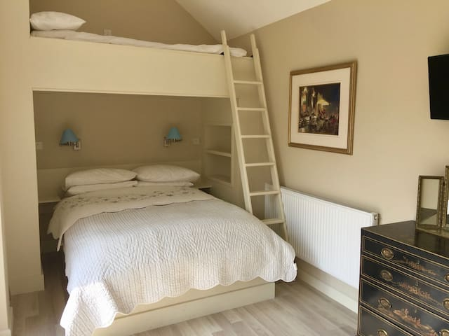The Bedroom with a bunk above
