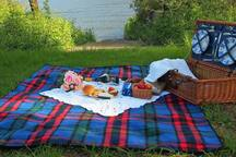 Picnic at shared boat access
