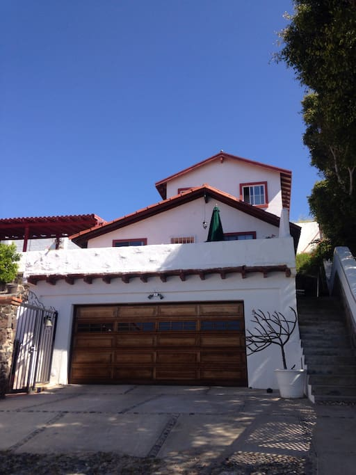 Garage with a view of La Cabaña's terrace