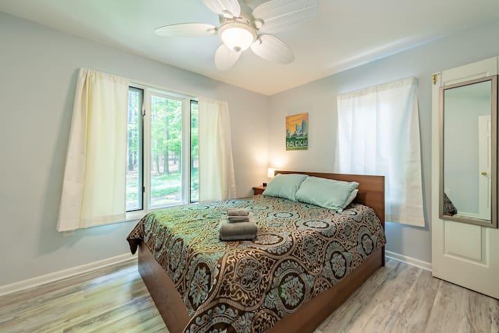 Quality foam queen mattress for a restful sleep.