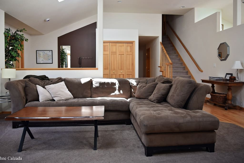 The large open layout is perfect for entertaining friends and family.