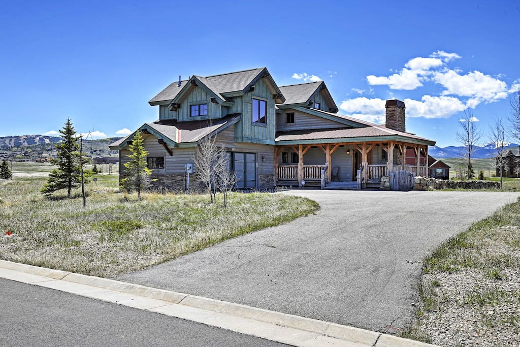 This luxurious home boasts over 2,000 square-feet of living space and an expansive wrap-around deck.