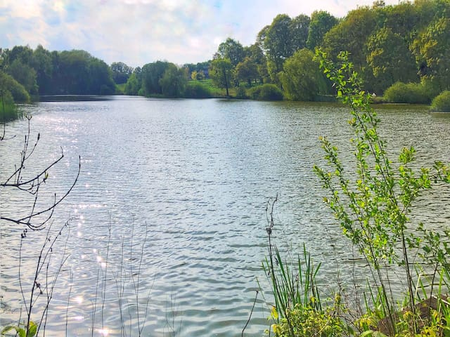 "Exclusive access to huge private lake.   ""The lake is quite large to walk round but very peaceful and full of wildlife. Location was fab so close to Whitstable and central Canterbury. "" Denyse, *****"