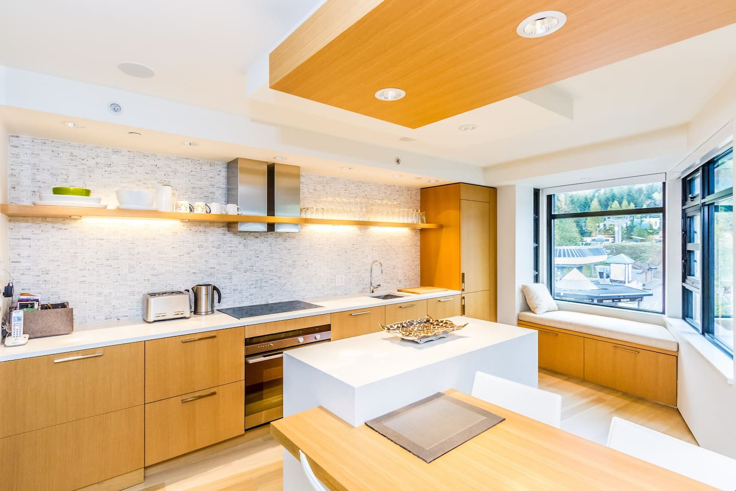 This fully stocked kitchen has everything you need to cook up a beautiful gourmet meal.