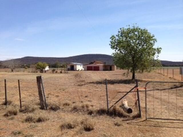 Quiet bungalow on two acres.