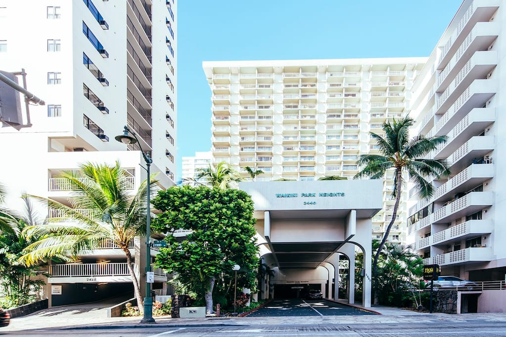 Waikiki Park Heights Building Entrance