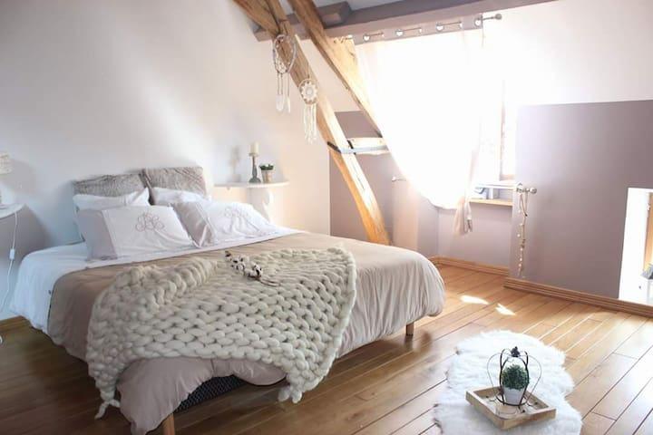 Chambre cocoon avec son lit king size