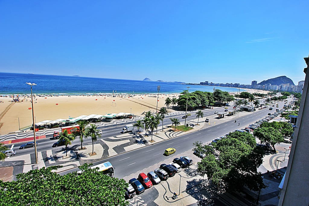Maravilhosa vista pra a praia de Copacabana.