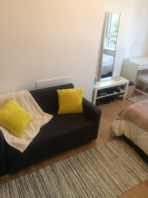 Sofa converts to a small double
