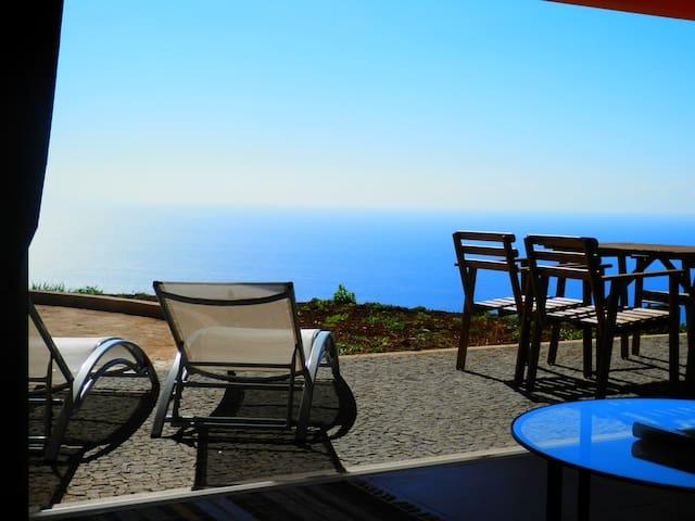 Casa Sidra_Calme_Panorama Océanique - Prazeres - Hus
