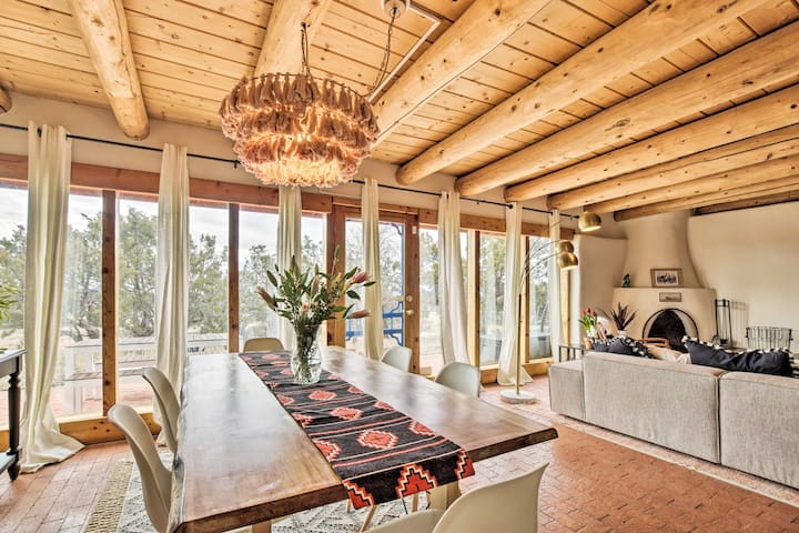 Authentic Santa Fe Adobe Home w/ Desert Views