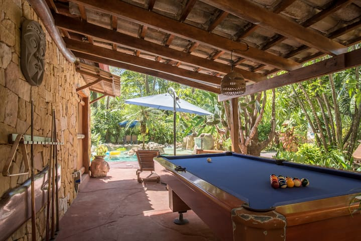 Pool table with pool view