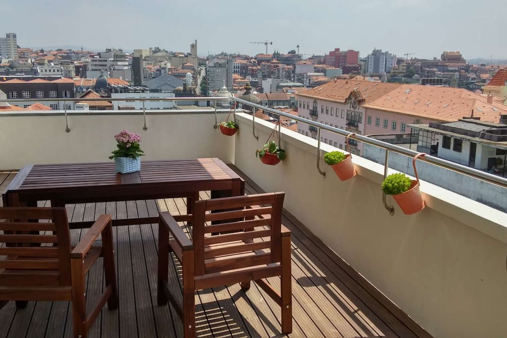 Big terrace with great views
