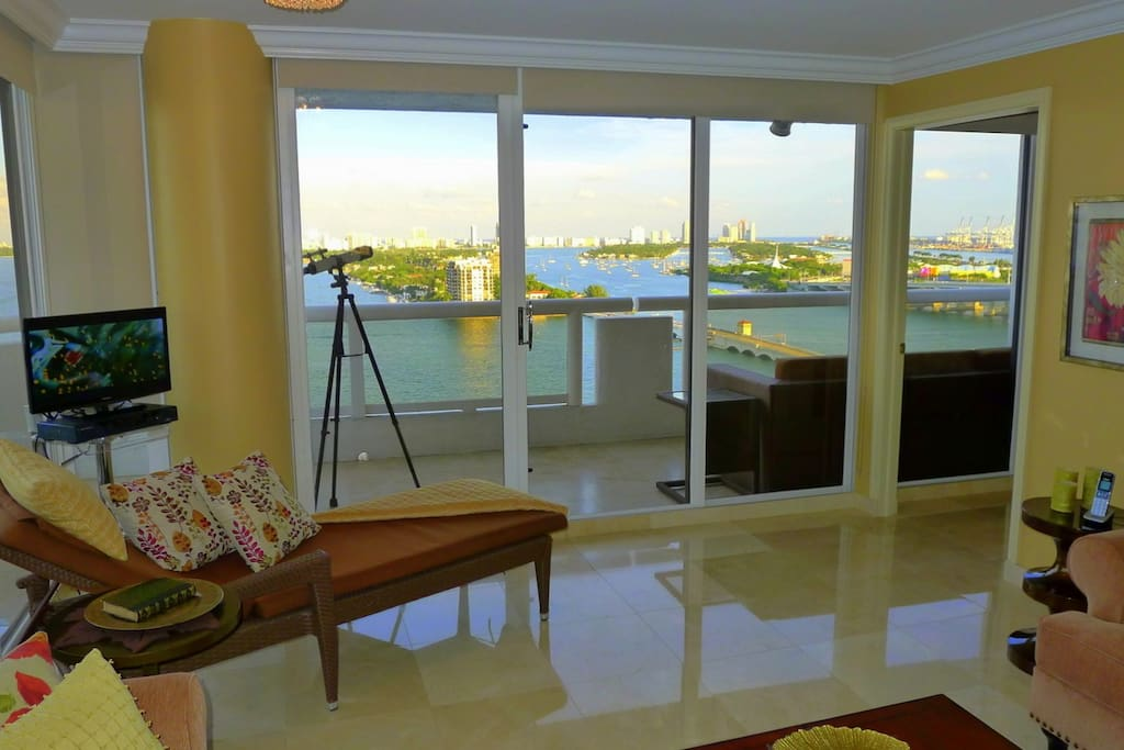 Miami MAGIC 1800 sqft Bay view from each bedroom