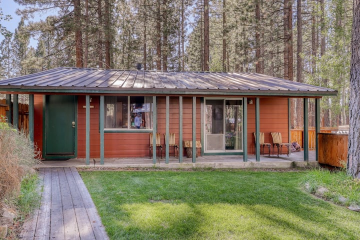 Dog-friendly w/ shared hot tub, fireplace, fenced grounds! Lake Tahoe nearby!