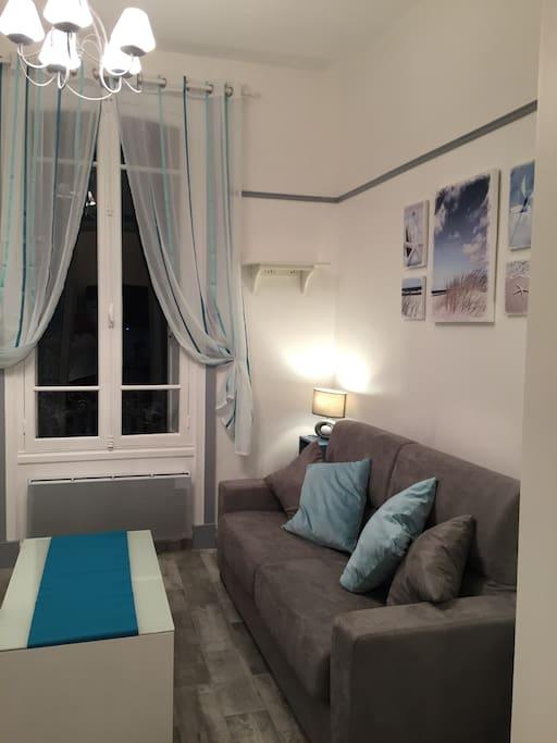 Superbe studio refait neuf 50m de la plage appartements louer trouv - Canape lit facile a ouvrir ...