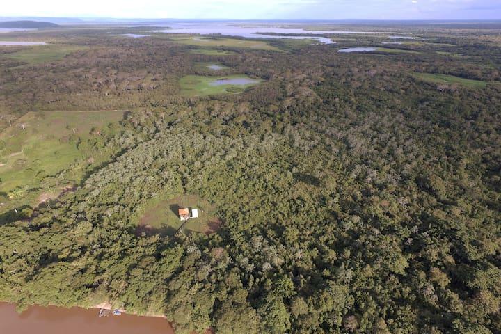 Bangaló ilha do Pantanal, imersão na natureza