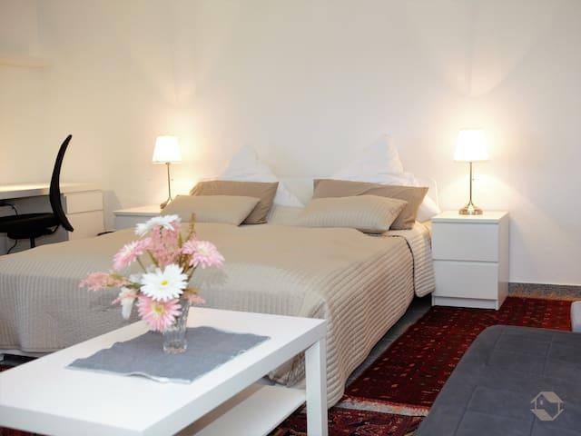 Ferienwohnungen an der Thermenallee, (Bad Krozingen), 1-Zimmer Apartment, 1 Wohn-/Schlafraum, 45 qm, max. 3 Personen