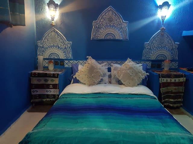 chambre bleu a meknes