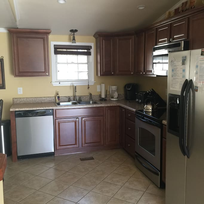 Kitchen area with full appliances