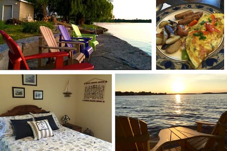"Lakeshore Retreat on Buckhorn Lake/""Nautical Room"" - Ennismore - Bed & Breakfast"