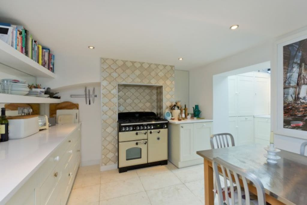 Large kitchen for use of guests