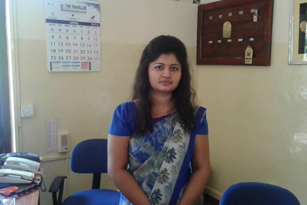 meet Poornima the receptionist
