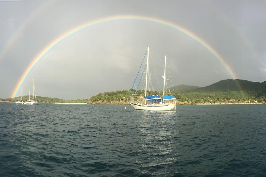 Double Rainbow Caneel Bay