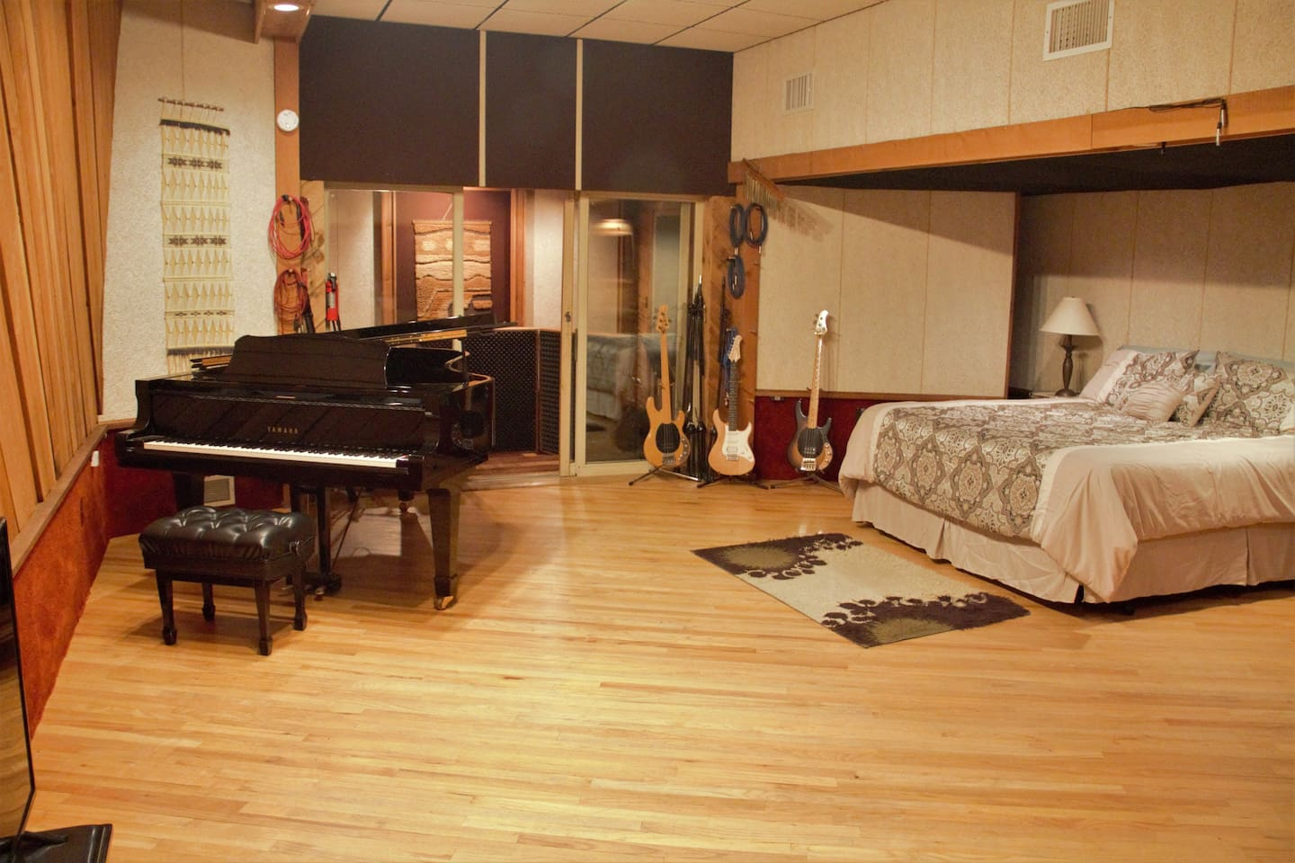 """The """"live room"""" (your bedroom) as seen from the control room"""