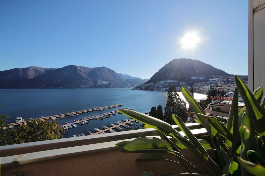 Beautiful view on Lake Lugano