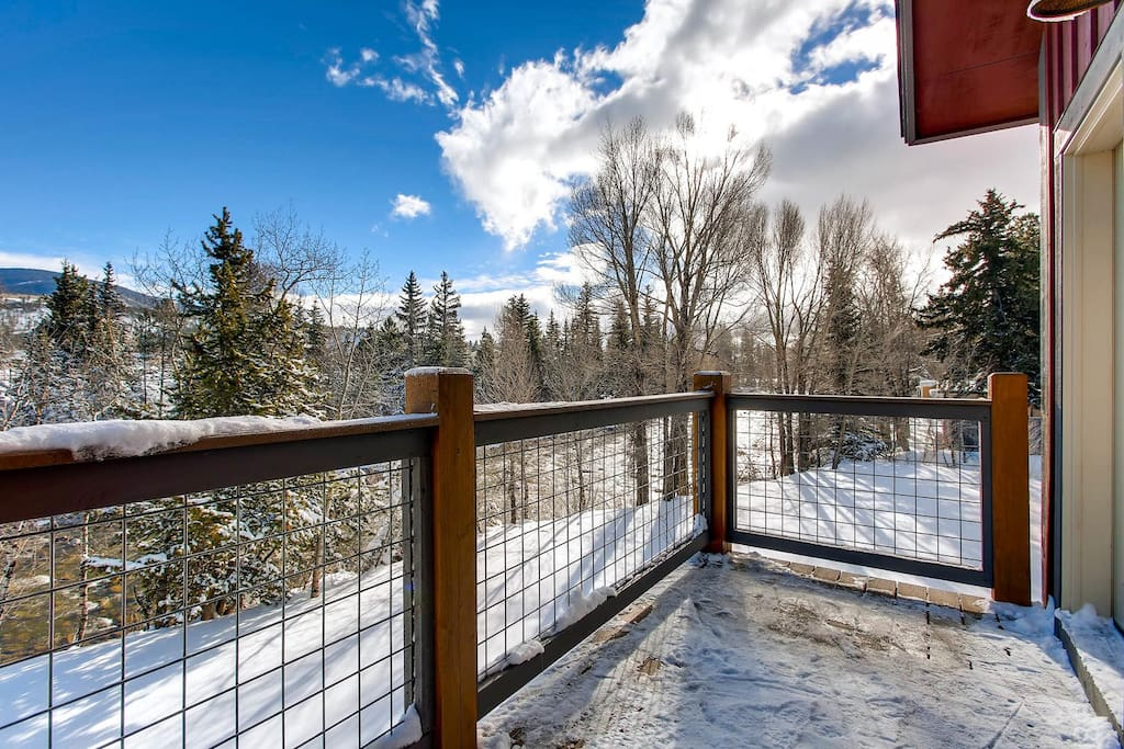 Take in Blue River views from your condo in the heart of Silverthorne!