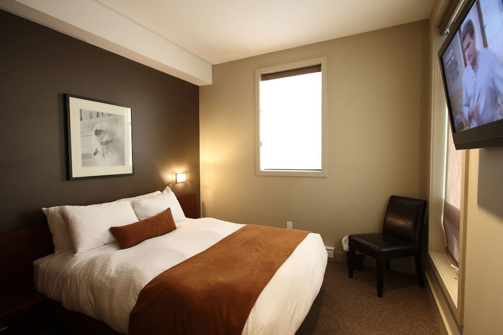 Watch a movie and drift to sleep in the comfortable queen or king bed in the master bedroom