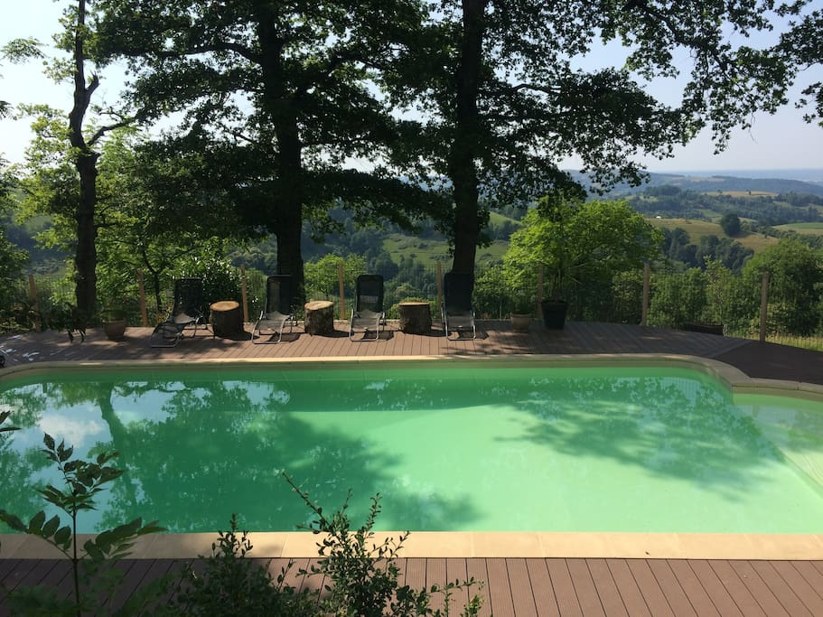 Relax and recharge around our heated swimming pool with views to die for!