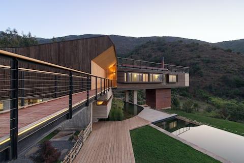 Increíble casa de montaña, Casa el Maqui.