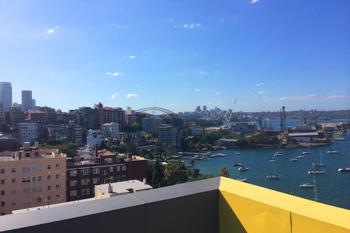 Top floor Sydney harbour studio