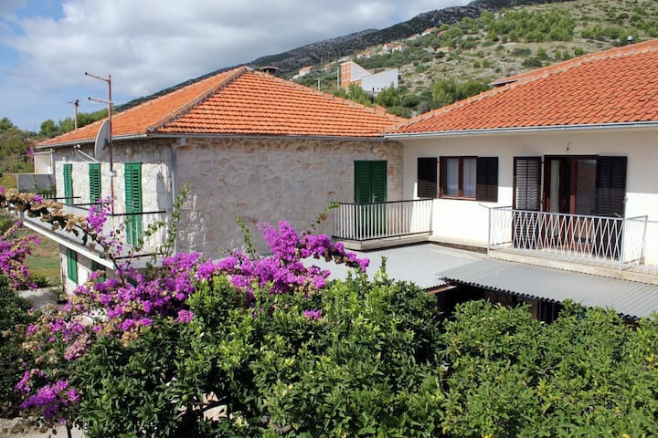 Room with balcony and sea view Zavala (Hvar) (S-128-d)