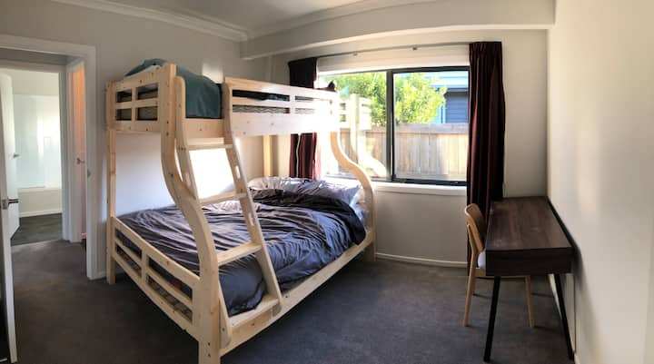 Cosy pine wood bunk bed private room