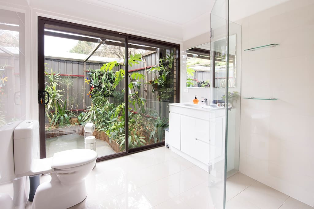 Stunning light-filled ensuite with private garden views