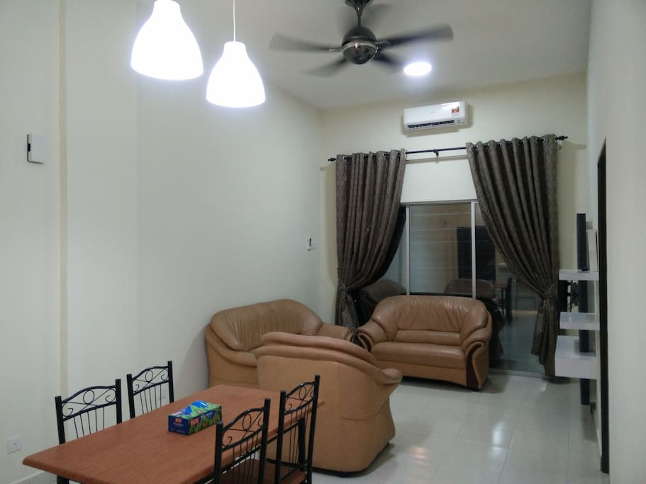 Living Hall with 2 Unit of Syiling Fan