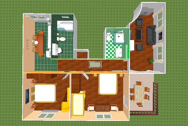 Big apartment no. 1 (max. 10 persons) 95m²