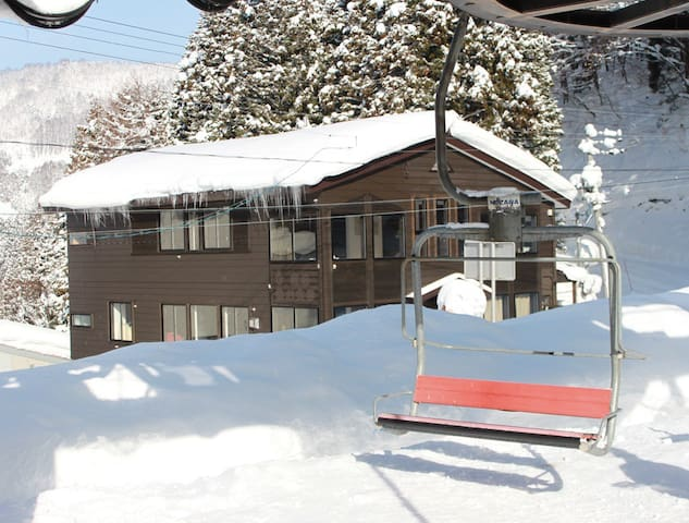 Kamoshika, Ski-in-Ski-out apartment. - Nozawaonsen - Appartement