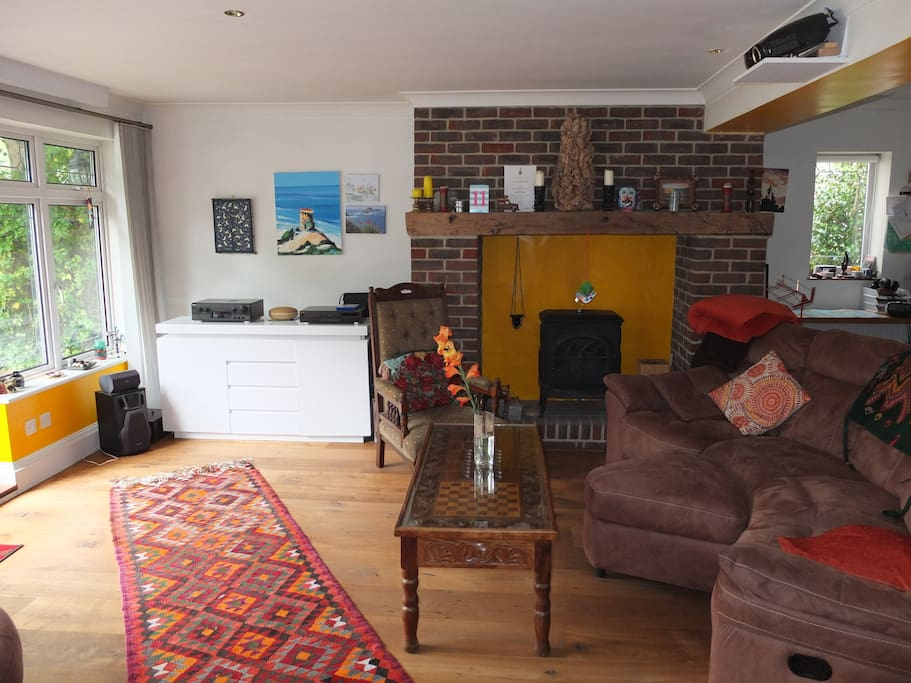 Lounge with cosy gas fire