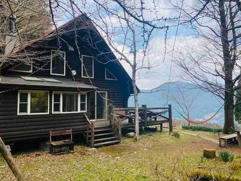 Beautiful log house in the mountain