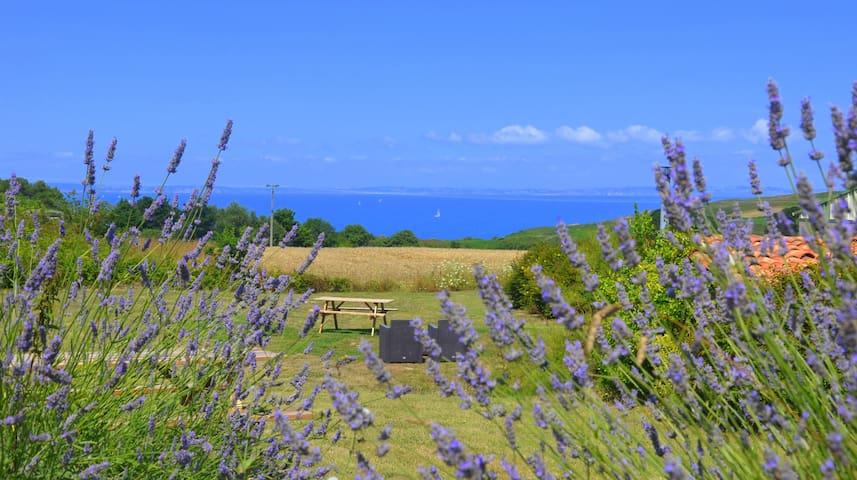 Petite Cabane face à la mer proche  GR34