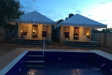 Morrocan Luxury Tent with Private Pool, Bar & BBQ