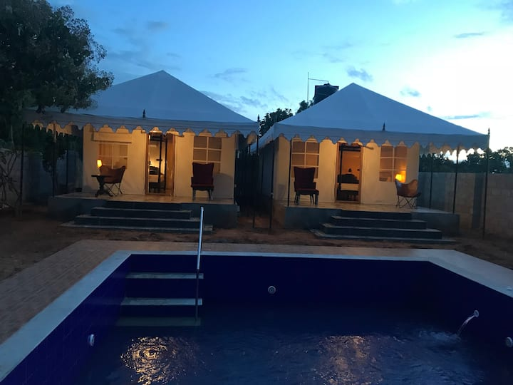 Glamping Luxury Tent - Private Pool, Bar & BBQ
