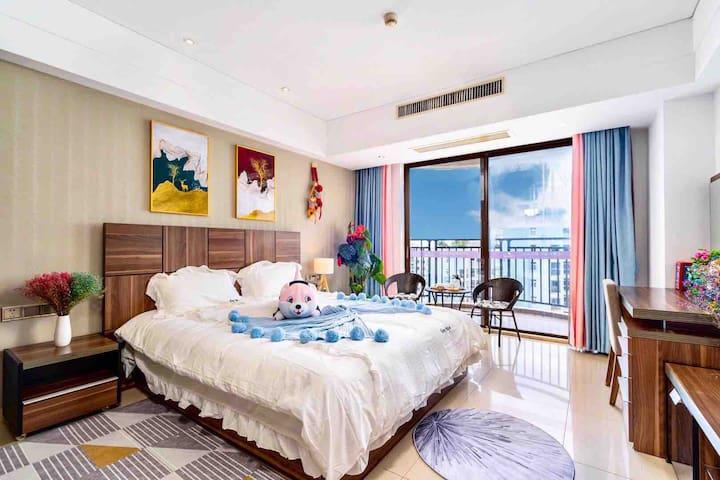 ❤️|大东海舒适海景大床房|距海边150米|点击房东头像进店可查看所有房源丨下单先询问是否有房