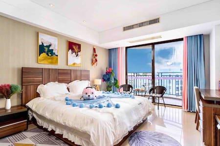 ❤️|大东海舒适海景大床房|距海边150米|另有园景和海景两室一厅|点击房东头像可查看所有房源