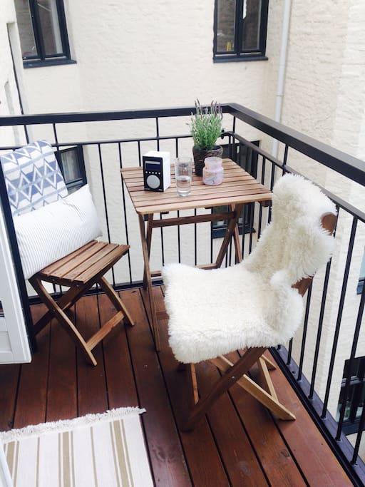 Eat breakfast on the balcony!
