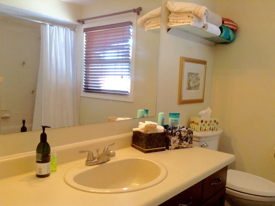 Private 4-piece bathroom across the hall.  Plus shared use of powder room on main floor.